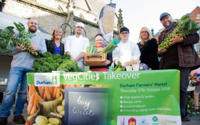 Veg Cities take over of Durham Farmers' Market